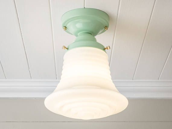 Vintage Rewired Semi Flush Mount Ceiling Light Fixture Art