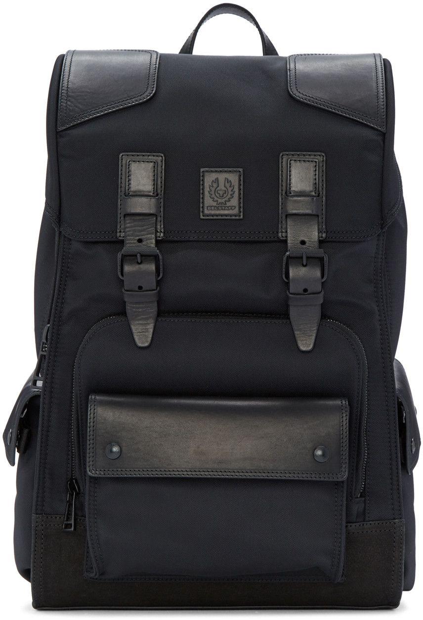 94025c5e10 Belstaff - Black Roadmaster Backpack