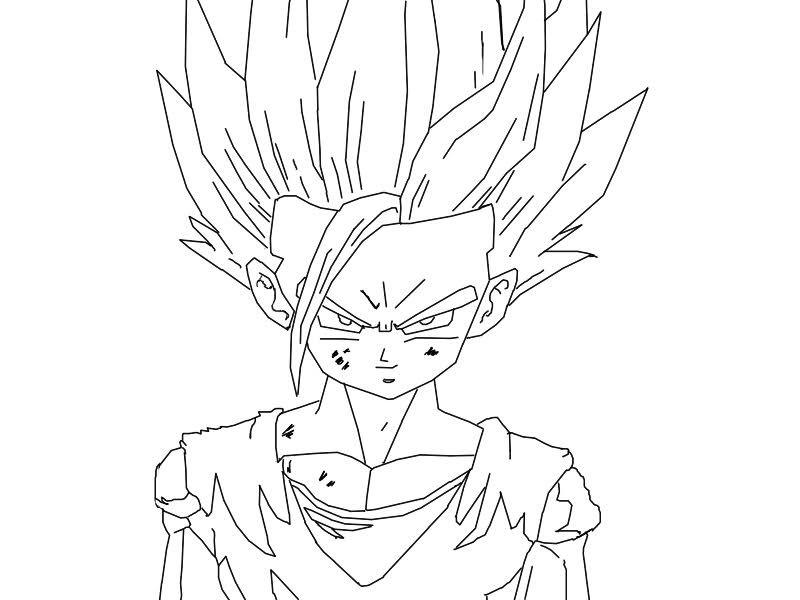 Dibujos Para Colorear De Dragon Ball Z Gohan Ssj2 Ideas: Como Dibujar Vegeta - Buscar Con Google