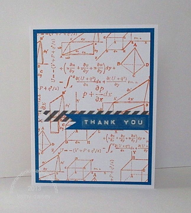 math Teacher thank-you card Offspring3 needed a thank you note - thank you note