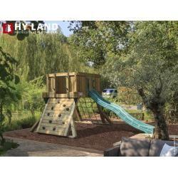 Play tower Hy-Land Q1 Kiefer + Hdpe RutscheSpielgeraete-Discount.de - Modern