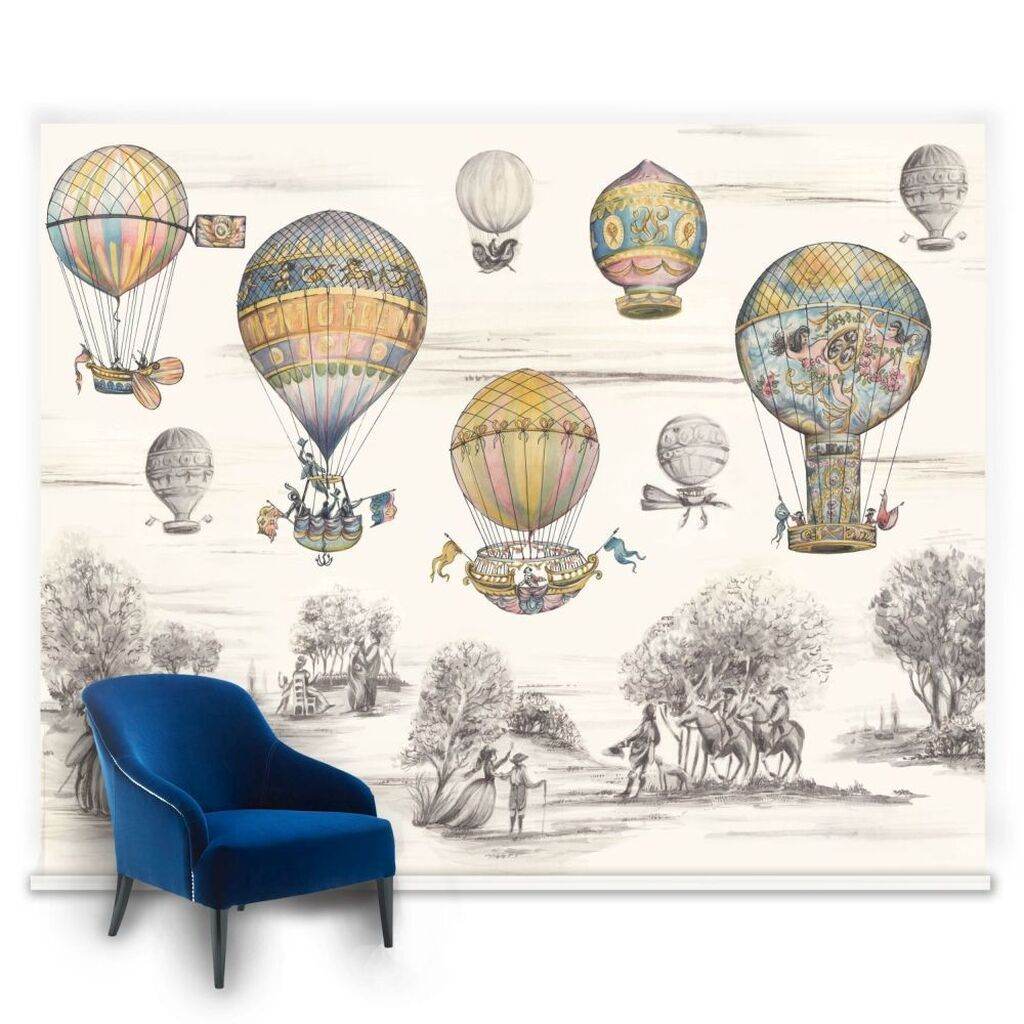 Couture Balloon Race Ready Made Mural, , large (With