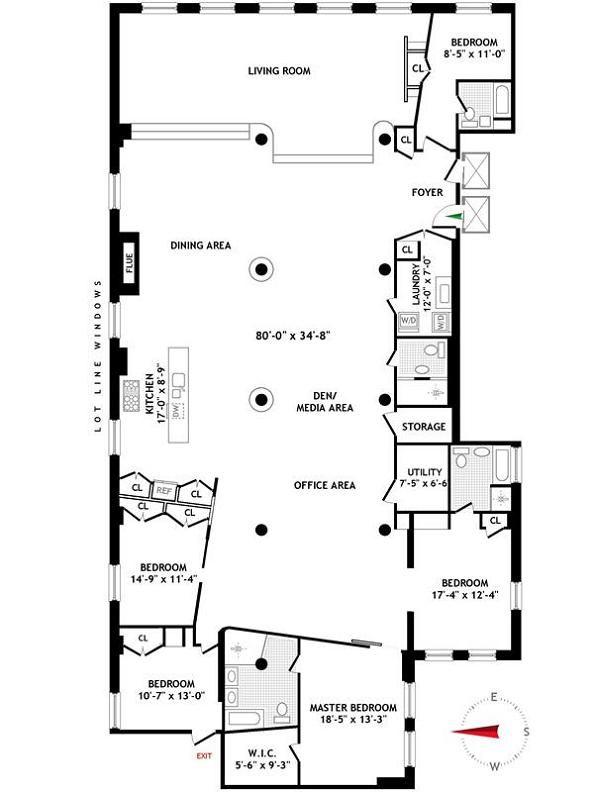Super Great Floor Plan Love Love Love The Open Concept Floor Plan Layout Condo Floor Plans Apartment Floor Plan