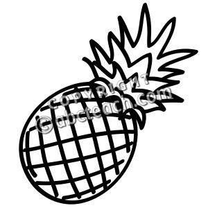 Clip Art Fruit Pineapple B W Abcteach Fruit Clipart Clipart Black And White Clip Art