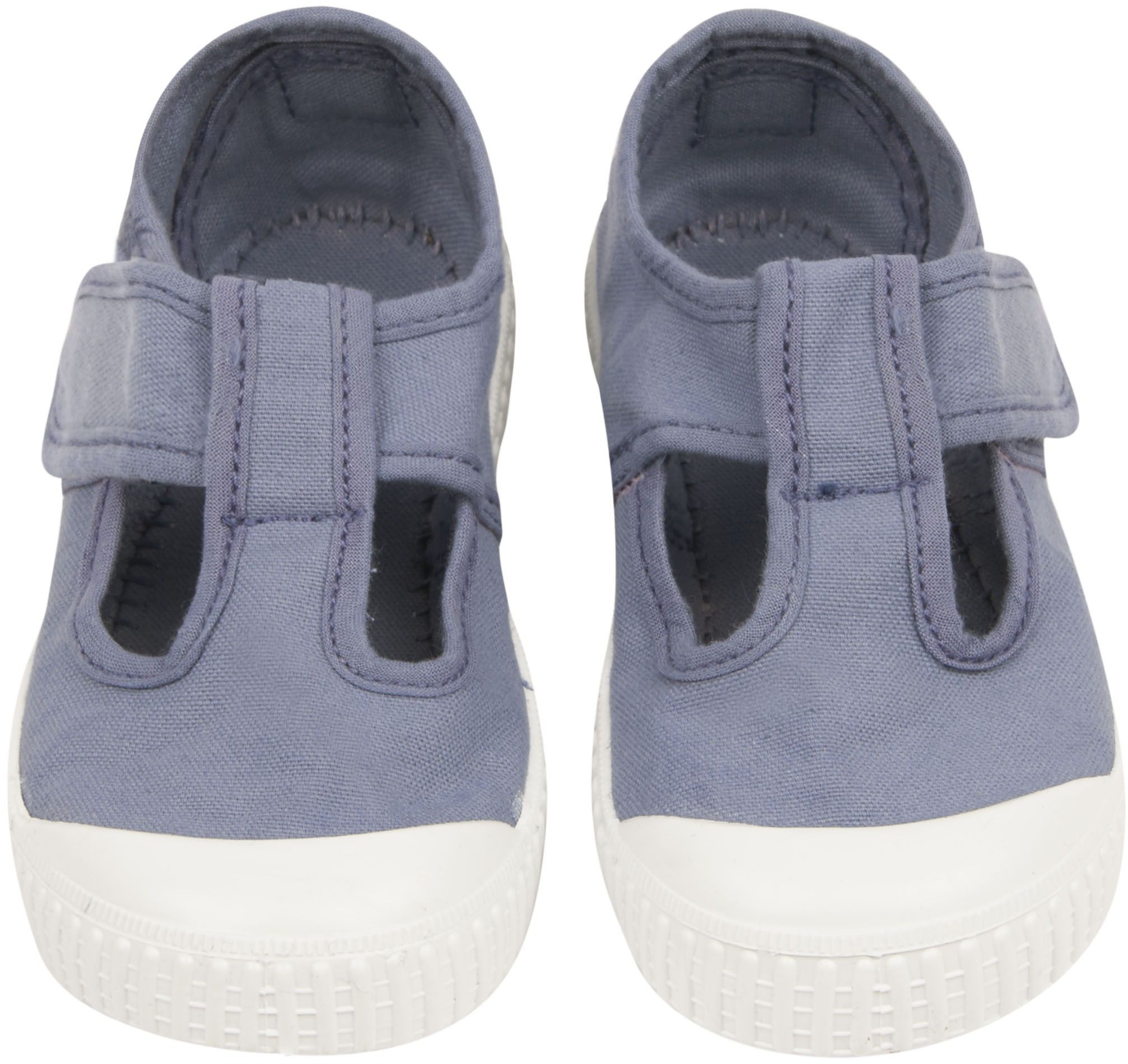 Shop The Victoria Girls T Bar Plimsoles In Blue At Elias & Grace