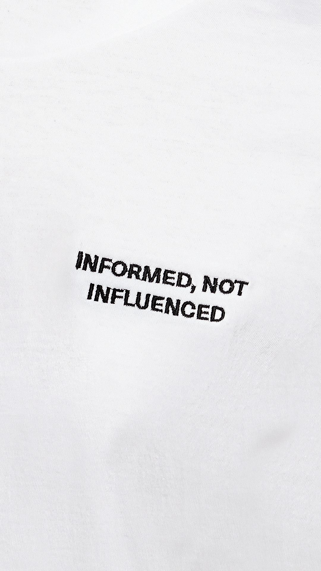 Informed, Not Influenced Merch Now Available!