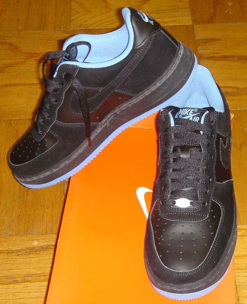 low priced efafe 56eb4 Nike Air Force 1 Black Suede University Blue 2006 Size 8.5 in Box 313642  005 NWT Nike AthleticSneakers