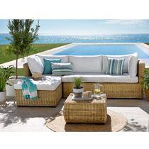 Hipercor Conjunto Casactual Cannes Rinconera Chaiselongue Mesa Sofá Al Aire Libre Decoracion De Exteriores Muebles De Jardín