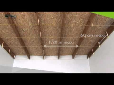 Comment Realiser Un Plafond Suspendu Avec La Plaque Placo Phonique Youtube Faux Plafond Pose Placo Plafond Plafond En Placo