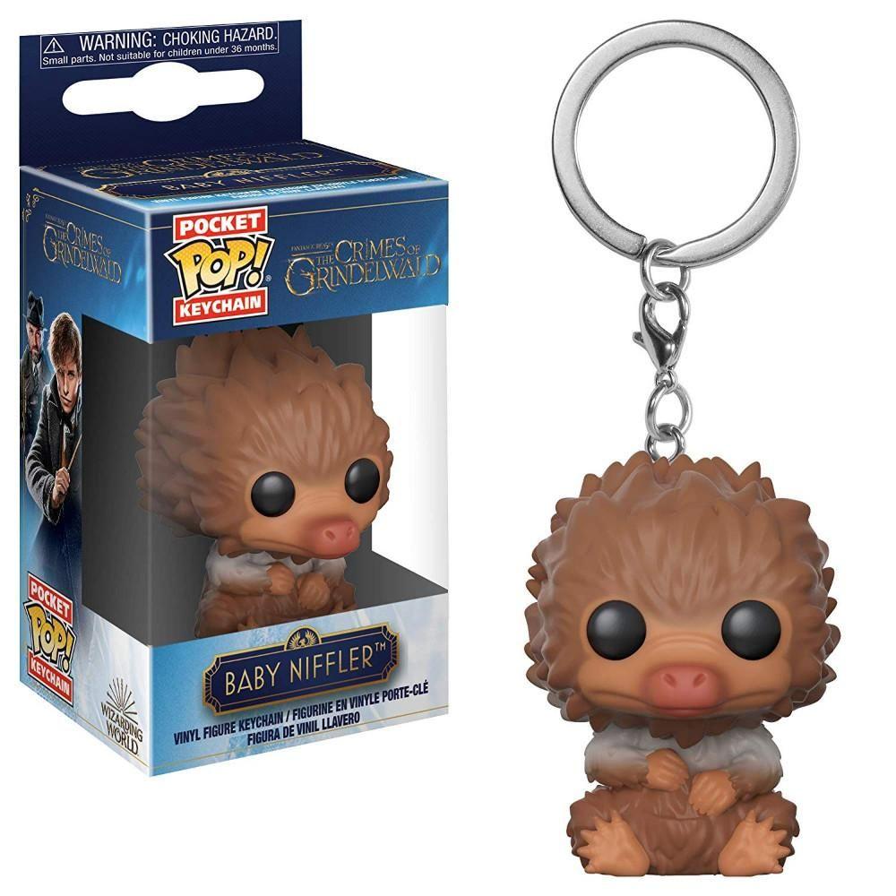 Fantastic Beasts The Crimes Of Grindelwald Baby Niffler Tan Funko Pocket Pop Keychain Niffler Fantastic Beasts Keychain