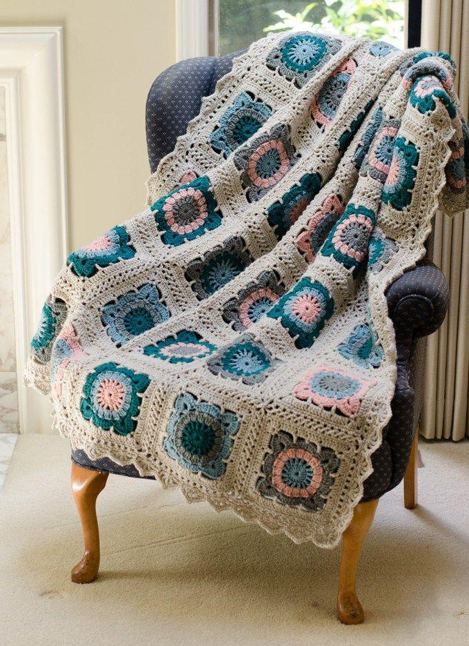 Happily Ever Afghan Block Crochet Afghans Blankets Pinterest