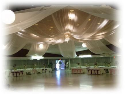 Ceiling Canopies Wedding Decorations Tulle Wedding