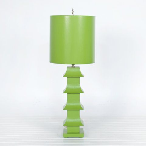 Pagoda lime green lmphg 11 table lamp collections - Floor lamps for teenage bedrooms ...