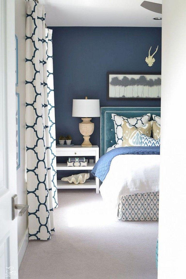 37+ Amazing Navy Master Bedroom Decor Ideas   Cozy guest ...