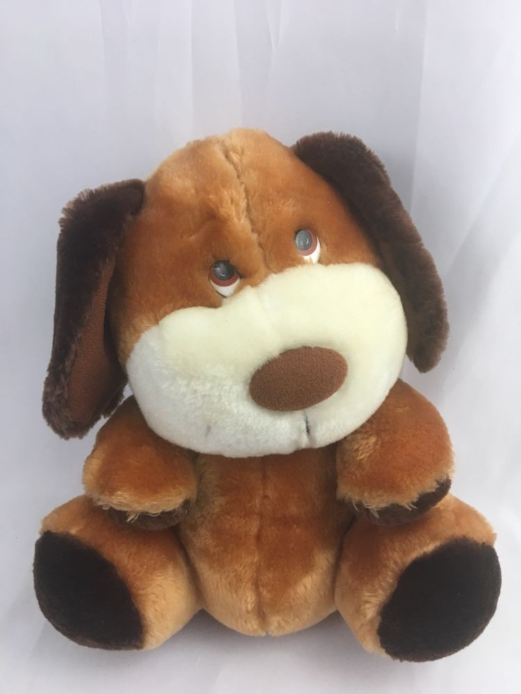 Vintage Dog Plush Love Land Windsor Toys Stuffed Animal Puppy 1985