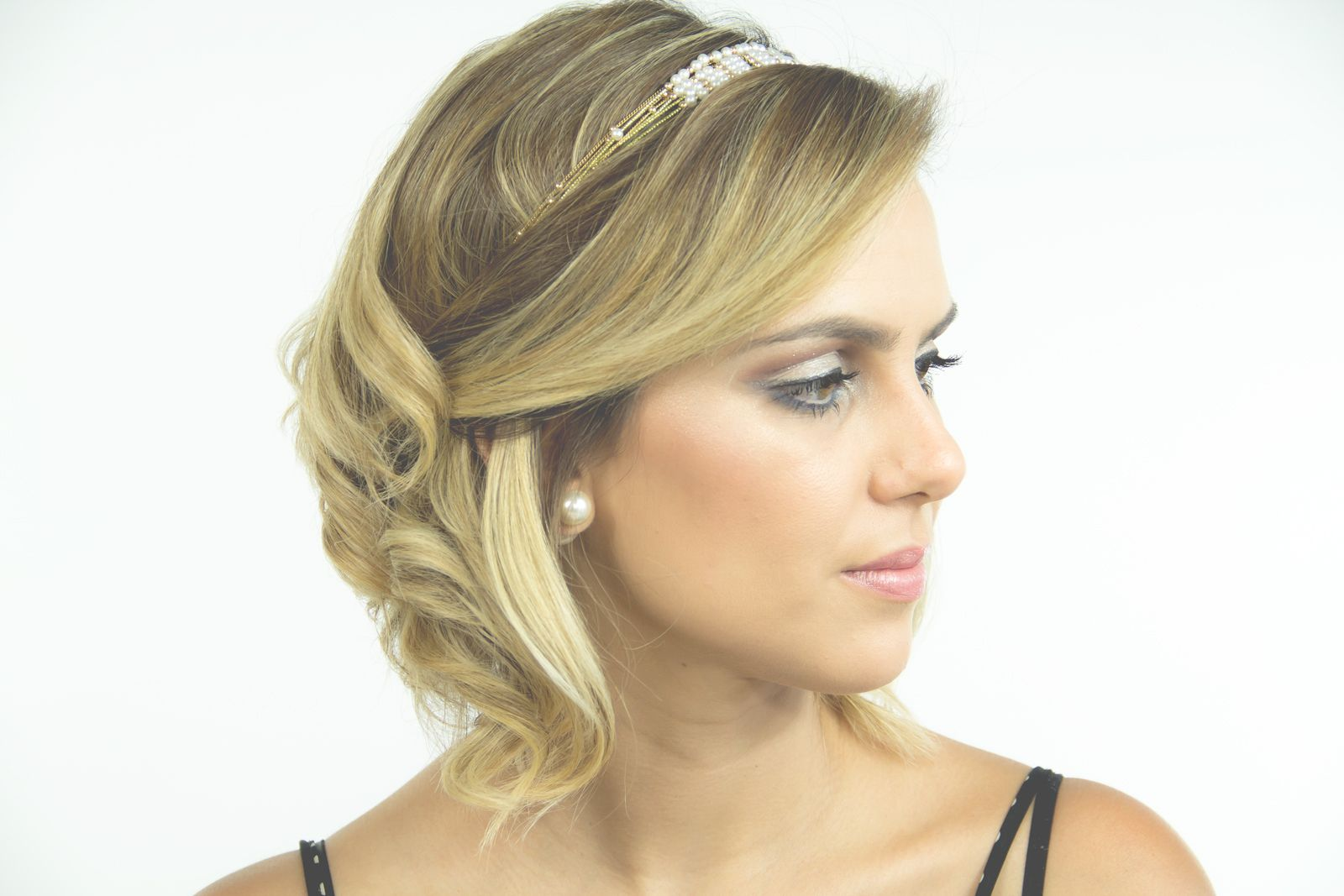Penteados para Cabelos curtos para casamento para noite
