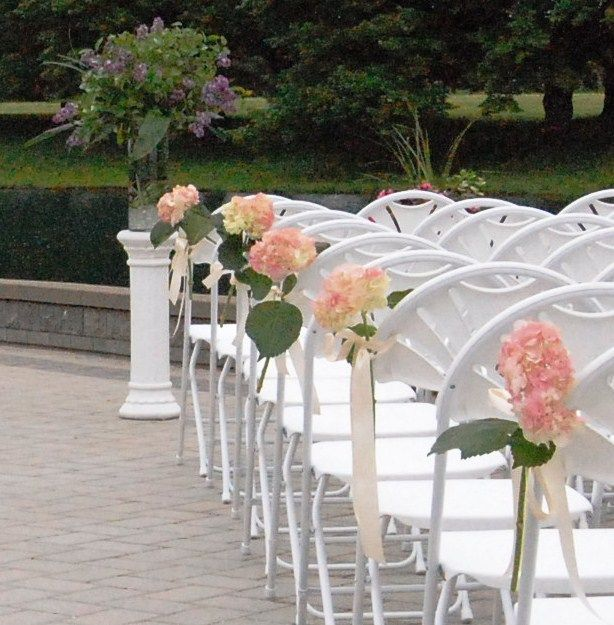 Outdoor Ceremony Wedding Chair Decorations Wedding Chairs Chair Decorations