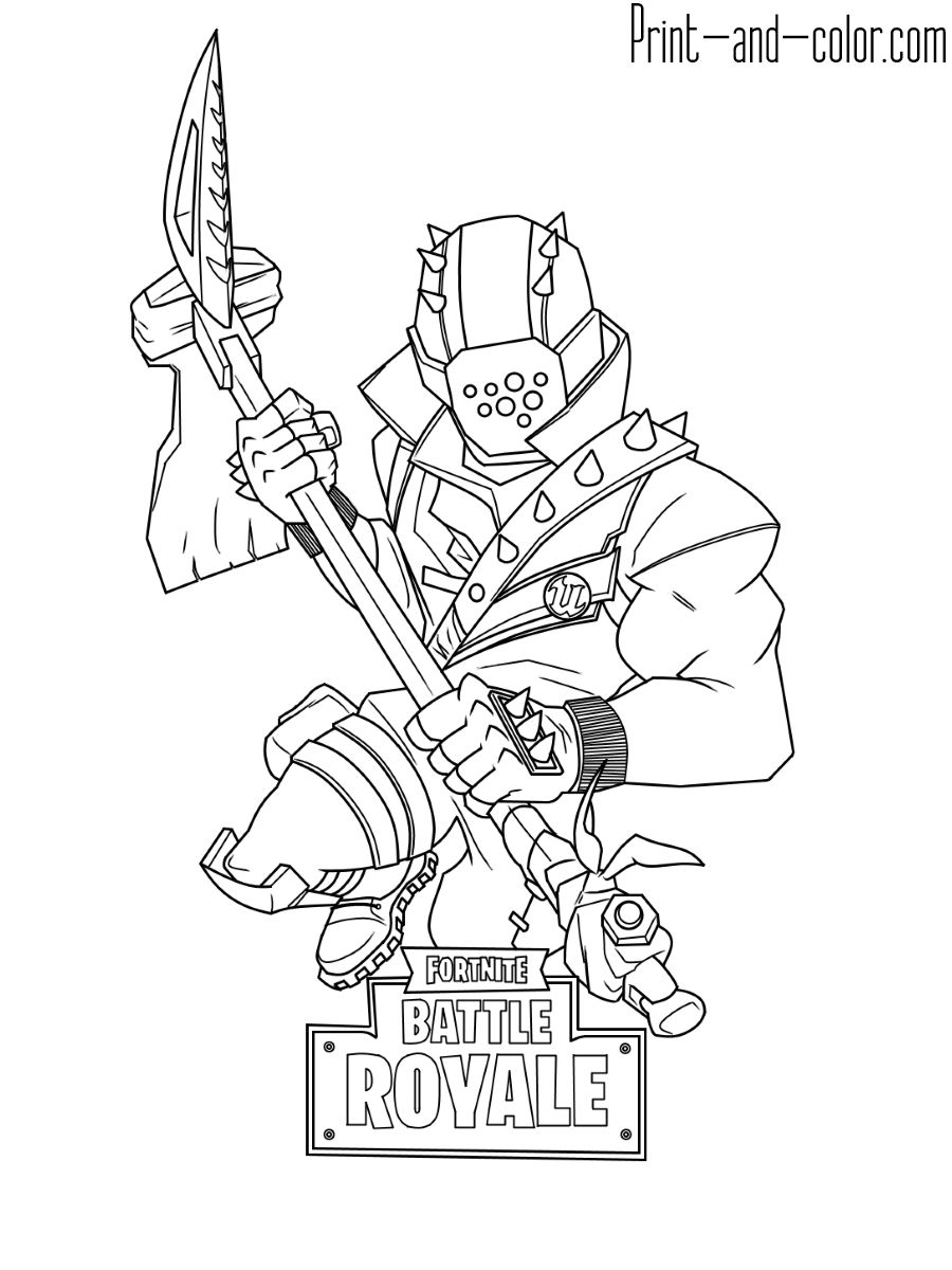 Print And Color Throughout Fortnite Coloring Pages Free Cool