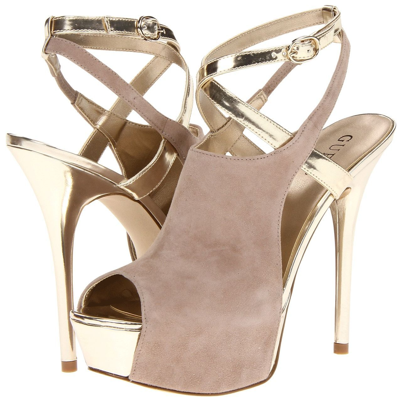 Guess Giga Shoes - neutral with gold