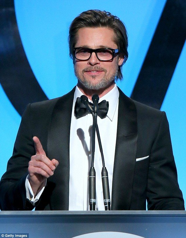 Speech time: Brad Pitt picked up the Visionary Award for his production company Plan B Ent...