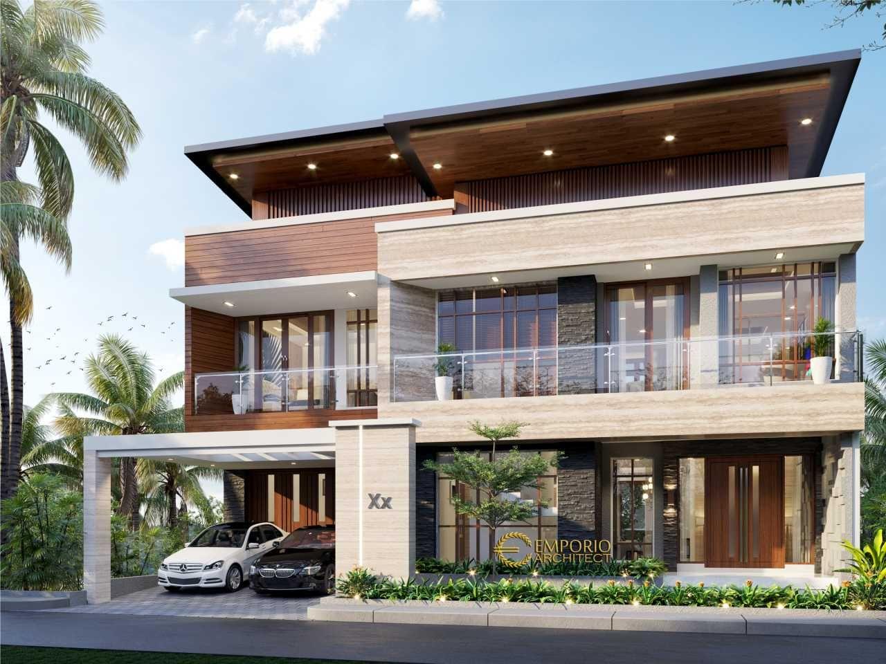 Desain Eksterior Kontemporer Cek Bahan Bangunan