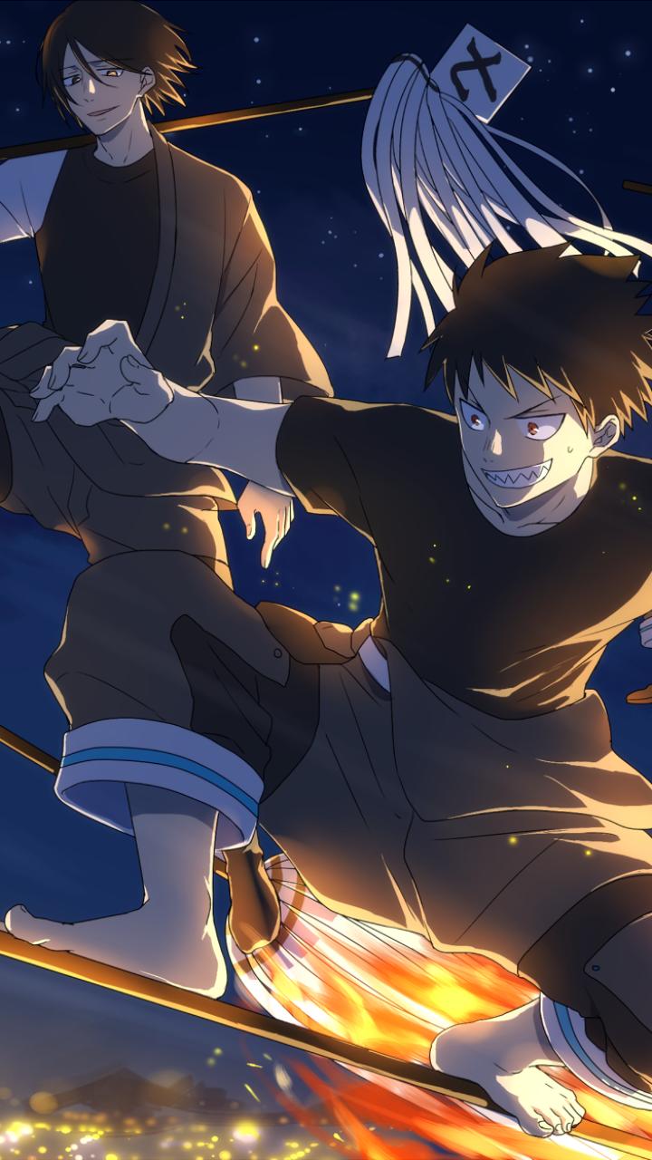 Fire Force Anime Mobile Wallpaper Hd Shinra The Hero Anime Background Anime Mobile Anime