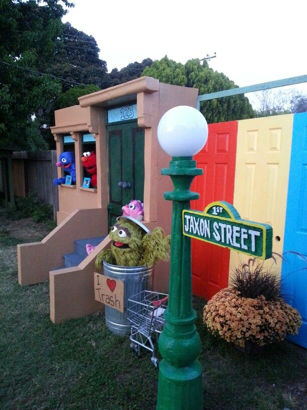 Built A Sesame Street Backdrop Display For My Sons B Day Party