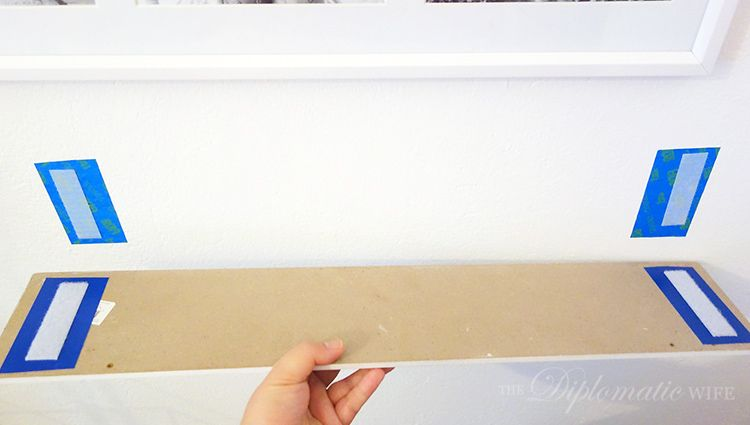 Genius Painters Tape Between Wall And Velcro Or Wall And 3m Command Strips To Ensure Walls Aren T Damaged Wall Decor Pictures Master Bedroom Makeover Hanging