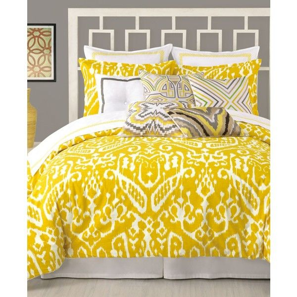 Trina Turk Ikat King Comforter Set ($172) ❤ liked on Polyvore featuring home, bed & bath, bedding, comforters, beddings, king size bed linens, ikat comforter, king size comforter, king size bedding en king comforter set