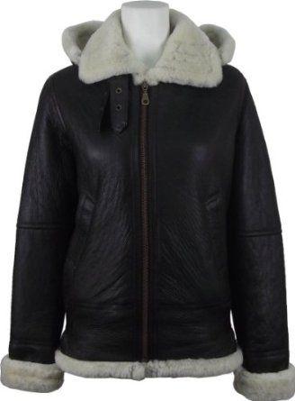 7616bb0a4f8 Unicorn London Women's Sheepskin Fur 'Air Force' Aviator Leather Flying  Jacket at Amazon Women's Coats Shop