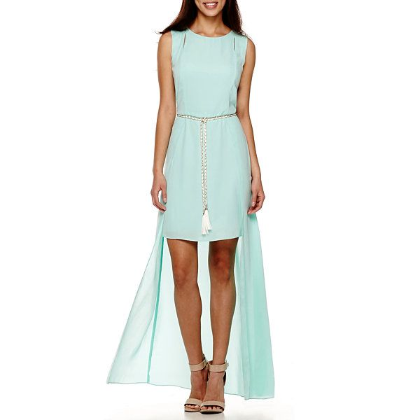 4011577613ae Bisou Bisou® Sleeveless Belted Flyaway Maxi Dress - JCPenney