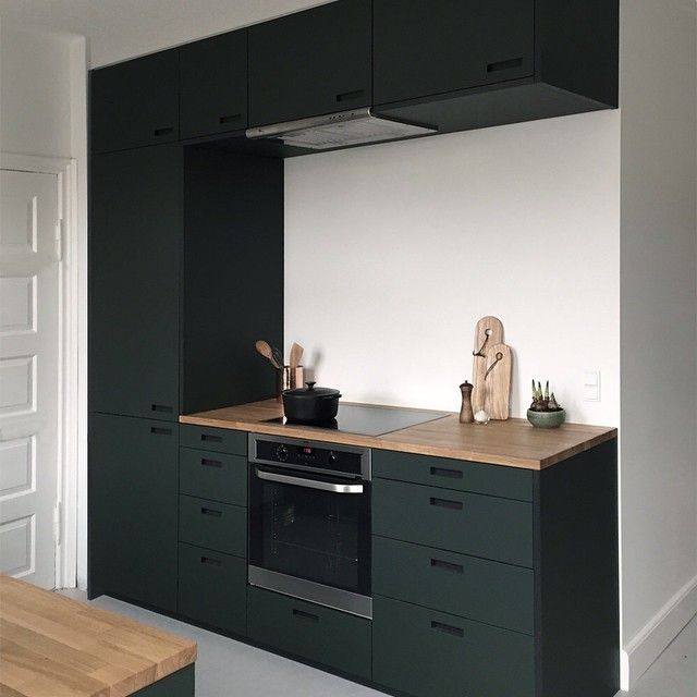 The conifer green linoleum is one of our favorite colors for Cuisine kungsbacka