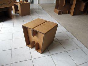 Tavolino Poggiapiedi ~ Eco and you & frank. pouf in cartone utilizzabile come poggiapiedi