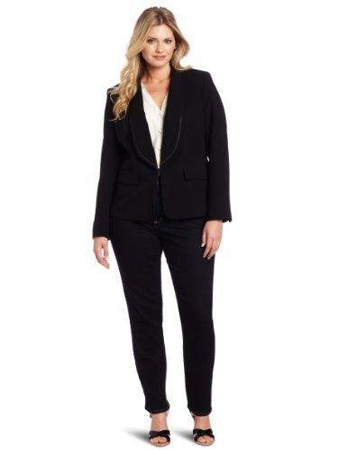 4a225914be Anne Klein Women s Plus-Size Tuxedo Jacket