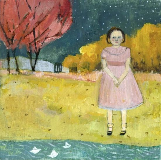 Every night she sent out messages and waited for an answer by Amanda Blake (contemporary) - (sebastianfoster)