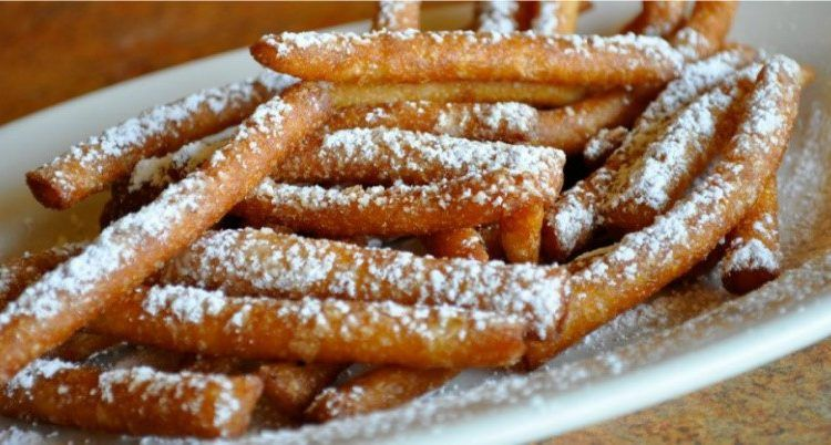 Fair food sure an order of funnel cake fries comin