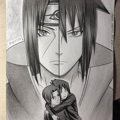 Uchiha Brothers My Two Favourite Characters This Drawing Was
