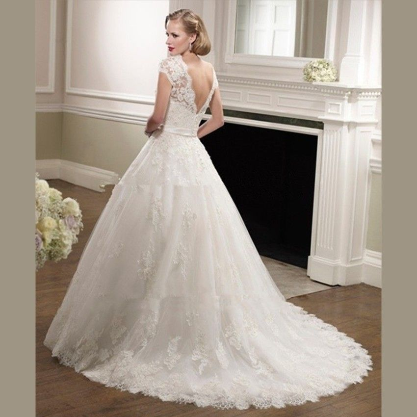 elegant lace wedding gowns-simple but nice. | Products | Pinterest ...