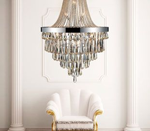 Over 400 Crystal Chandeliers that WOW!  100+ under $550.