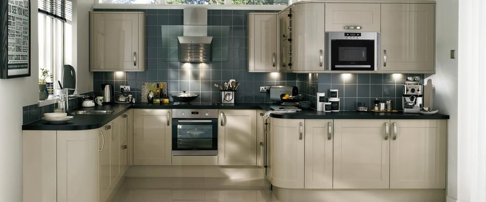 Burford Gloss Flint Grey Kitchen Range | Kitchen Families | Howdens Joinery
