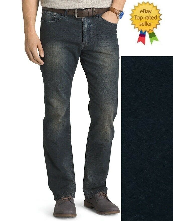 website for discount unique design best sell IZOD Mens Comfort Stretch Relaxed Fit Jeans Iron Blue size ...