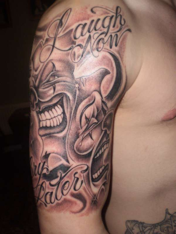 74f72cd45 laugh now cry later tattoo   Laugh now, Cry Later, Clowns tattoo ...