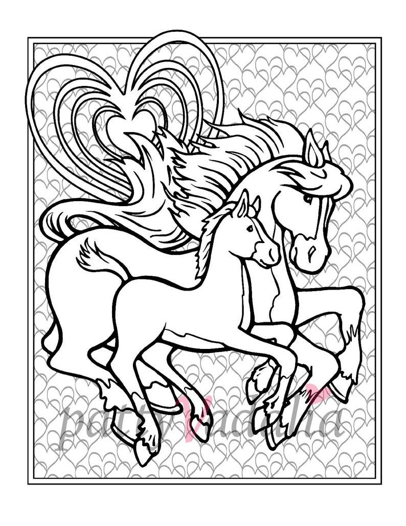 Baby Horse Coloring Pages Coloring Pages Horse Baby Foal Coloring