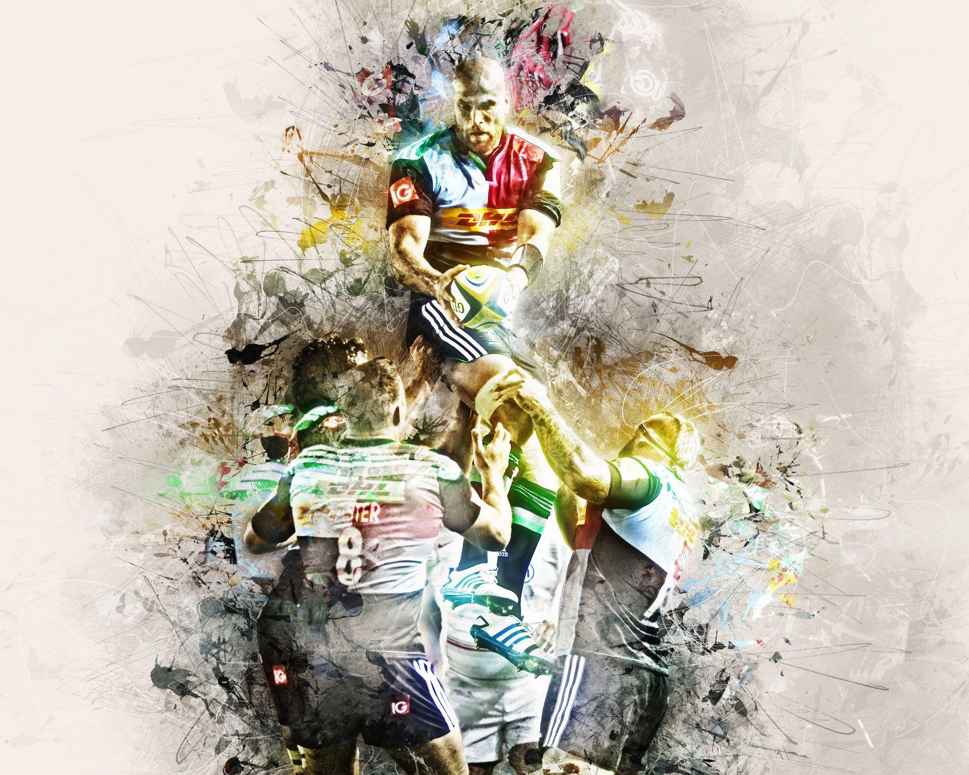 Harlequins Rugby Team Strategic Plan Visual Concept Digital Artwork Savanidis Stelios Rugby Art South Africa Rugby Team Digital Artwork