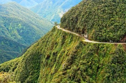 The Road of Death, in Bolivia. crazy.