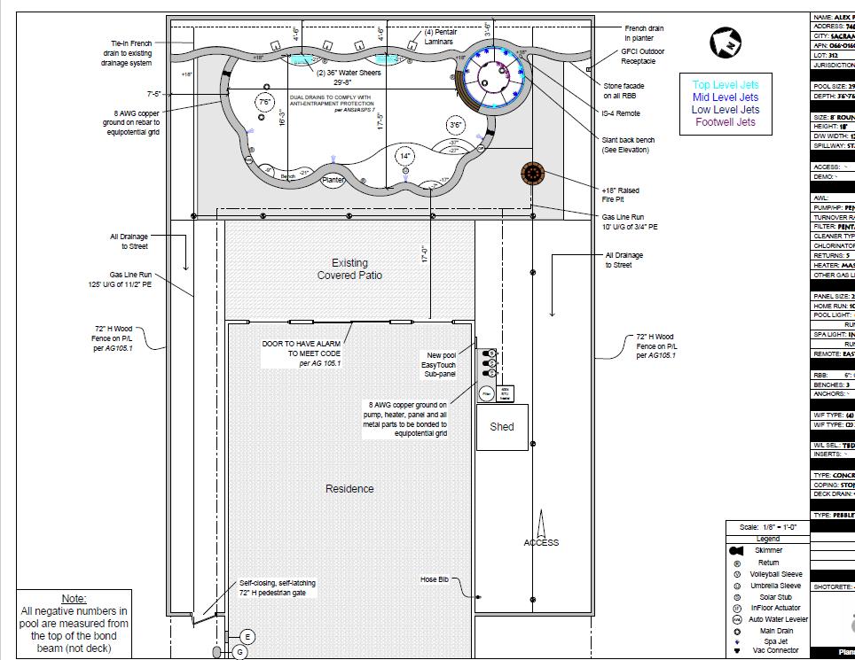 Swimming Pool Blueprints House Plans