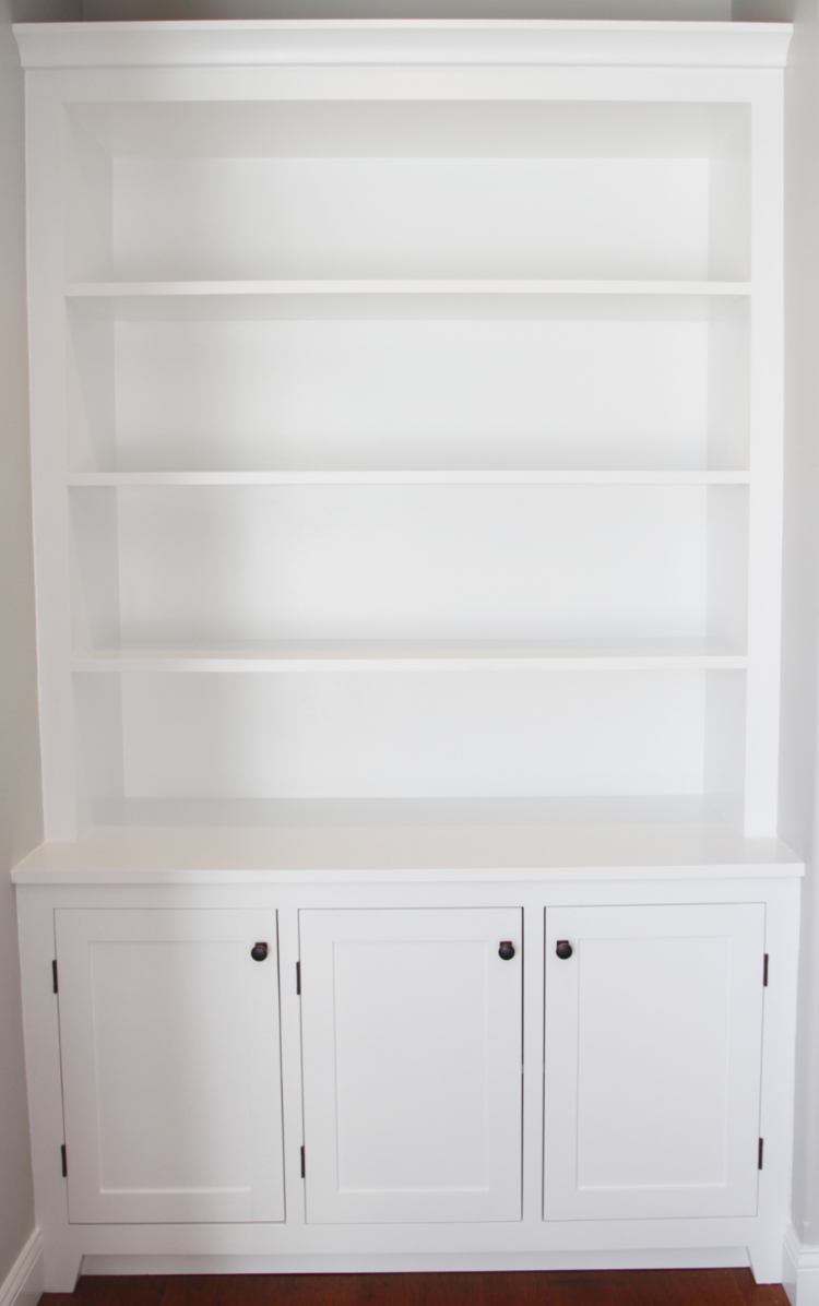 How to build a builtin part of the bookshelves my house