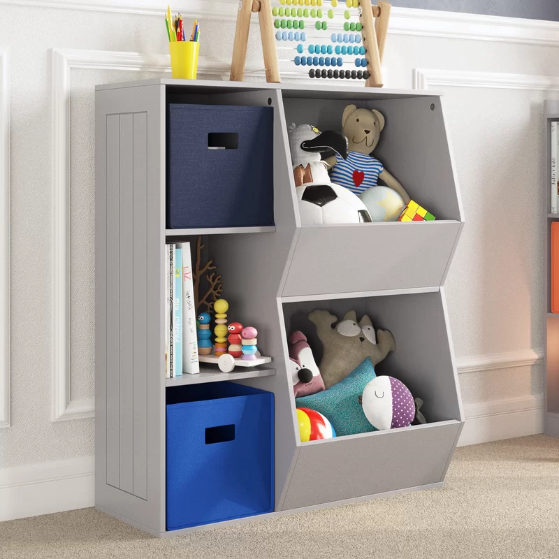 Riverridge Home Riverridge 3 Cubby 2 Veggie Bin Toy Organizer Reviews Wayfair Playroom Storage Kids Playroom Decor Kids Storage