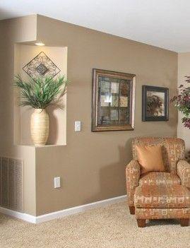 Corner Niche Recess Light Included Elegant Living Room Decor