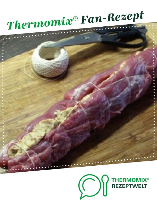 Kräuterkäse-Nuss-Füllung fürs Schweinefilet